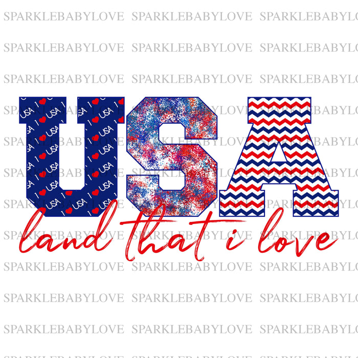USA land that i love Ready to press DIY iron on, Sublimation transfer, Ready to Press, Iron on Ready, htv printed,  Iron on Transfer