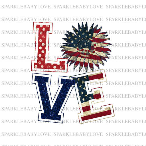 Love 4th of July,  Fourth of july Ready to press DIY iron on, Sublimation transfer, Ready to Press, Iron on Ready,  Iron on Transfer
