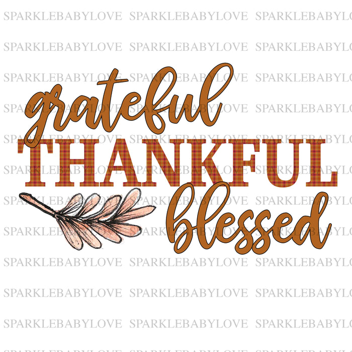 grateful thankful and blessed, Thanksgiving DIY iron on, Fall image transfer, Ready to Press, Thankful and blessed, Iron on Transfer