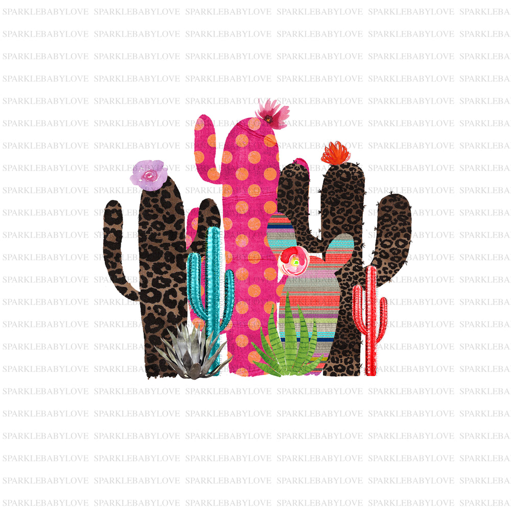 Serape Cactus iron on transfer,Cactus sublimation transfer, Sublimation transfer  Ready to Press, Htv transfer ready to press