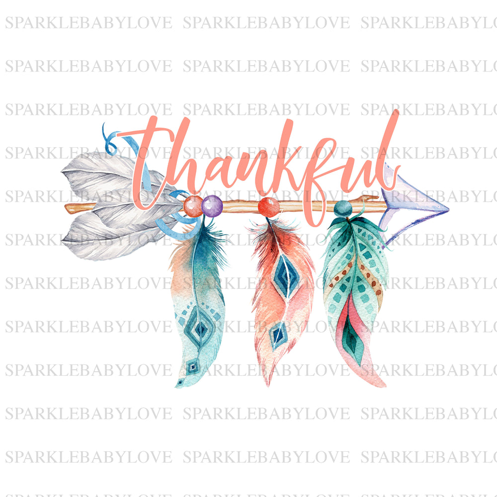 Thankful arrow boho iron on, Thanksgiving DIY iron on, Fall image transfer, Ready to Press, Thankful and blessed, Iron on Transfer