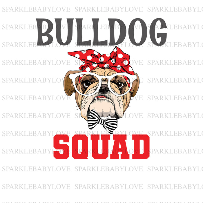 Bulldog Squad iron on Bulldog Ready to press DIY iron on, Sublimation transfer, Ready to Press, Iron on Ready,  Iron on Transfer