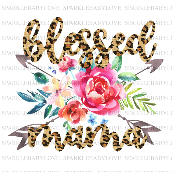Blessed Mama  sublimation transfer, Thanksgiving DIY iron on, Fall image transfer, Ready to Press, Thankful and blessed