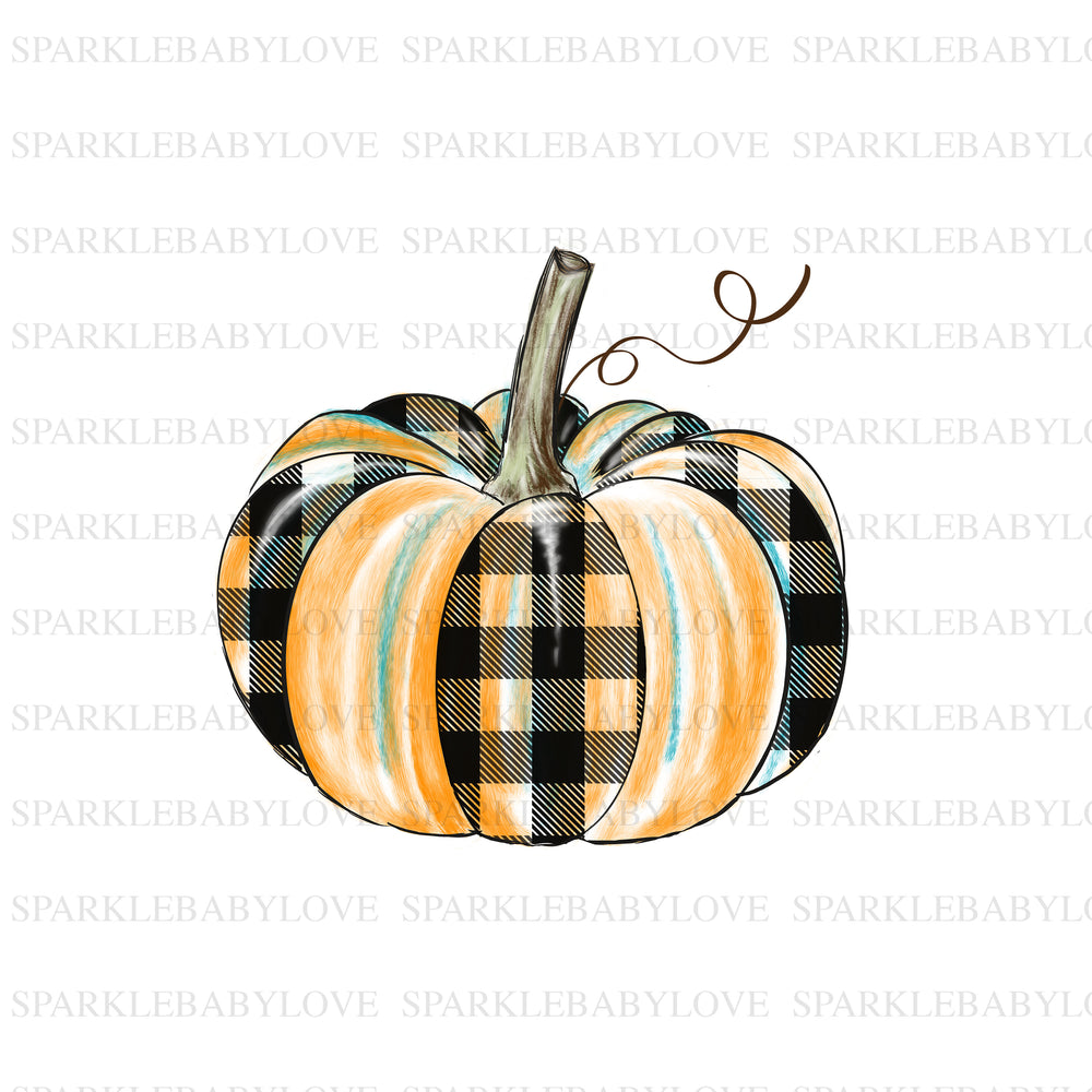Plaid Pumpkin, Thanksgiving DIY iron on, Fall image transfer, Ready to Press, Iron on Ready, Thankful and blessed, Iron on Transfer