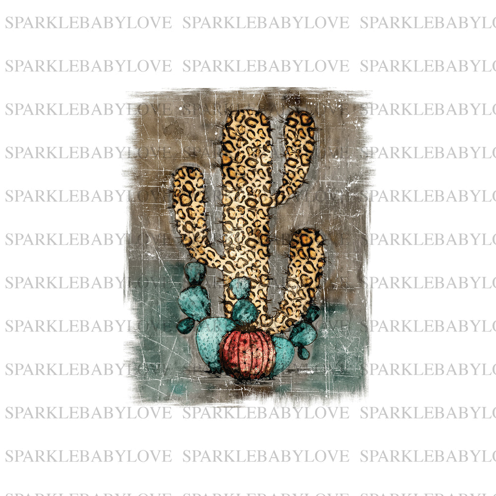 Leopard Cactus iron on transfer,Cactus sublimation transfer, Sublimation transfer  Ready to Press, Htv transfer ready to press