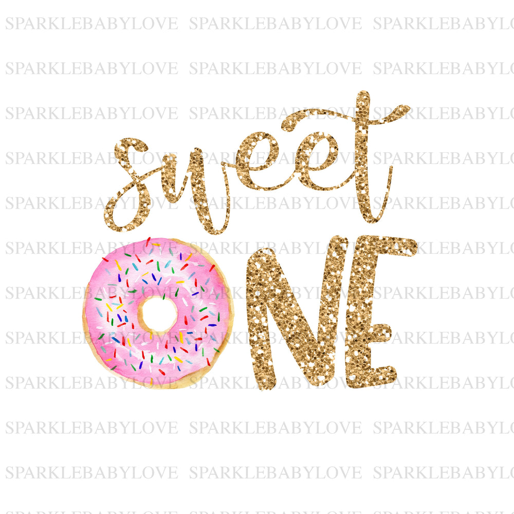 sweet One Iron On Ready To Press Transfer, donut  Iron On Transfer Vinyl, Iron On Transfer, Birthday donut iron on