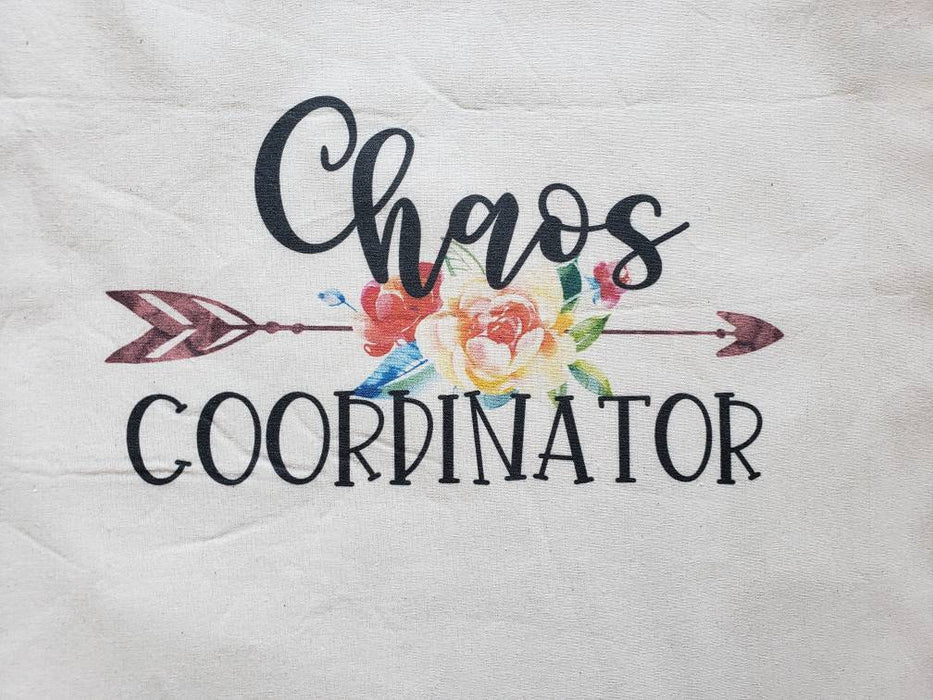 Chaos Coordinator Tote Bag, Tote Bag, Teacher Tote Bag, Personalize tote bag, Teacher Personalized Bag, Canvas Tote Bag