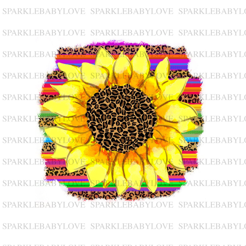 Serape Sunflower iron on transfer,Sunflower sublimation transfer, Sublimation transfer  Ready to Press, Htv transfer ready to press