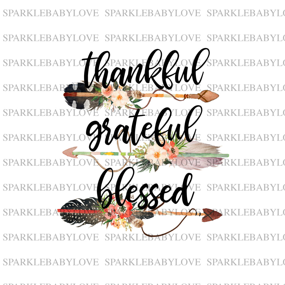 Thankful grateful and blessed, Thanksgiving DIY iron on, Fall image transfer, Ready to Press, Thankful and blessed, Iron on Transfer