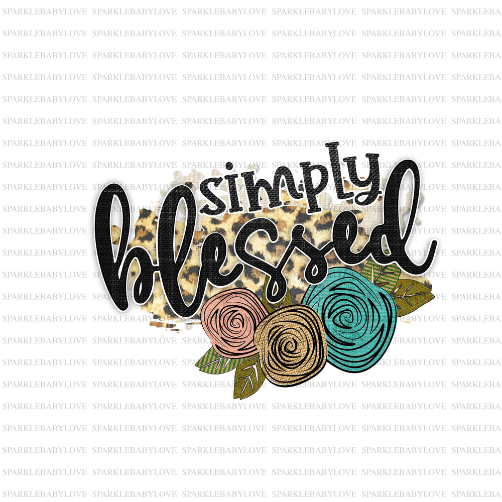 Simply Blessed, Thanksgiving DIY iron on, Fall image transfer, Ready to Press, Iron on Ready, Thankful and blessed, Iron on Transfer