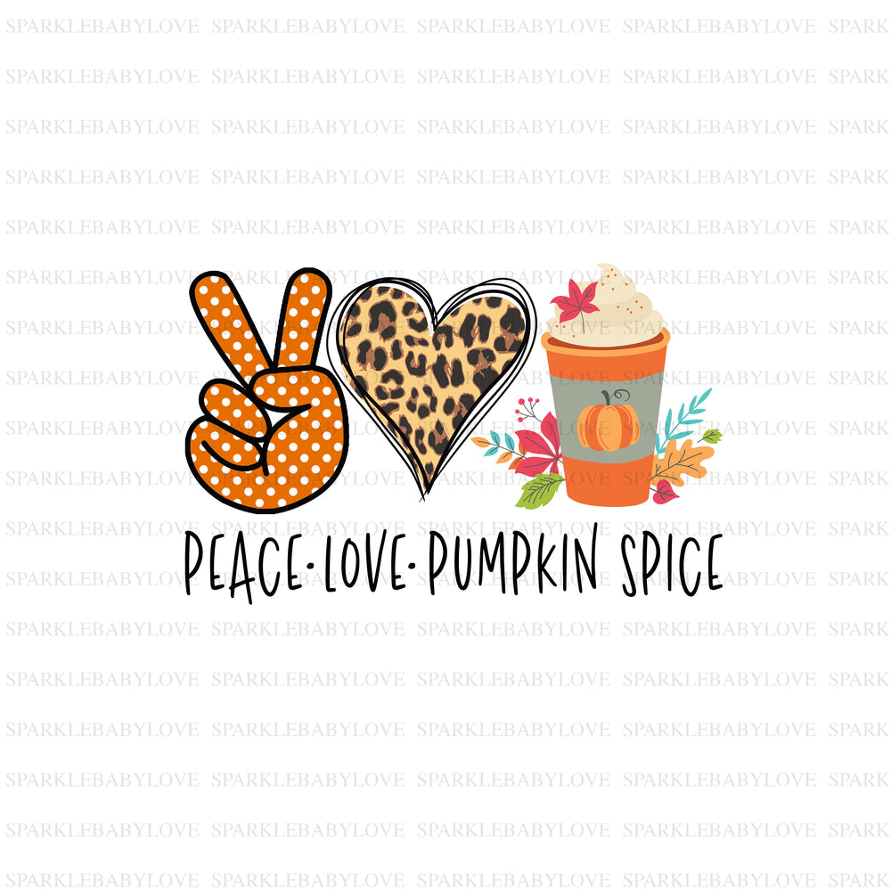 Peace love pumpkin spice, DIY iron on, Fall image transfer, Ready to Press, Iron on Ready, Thankful and blessed