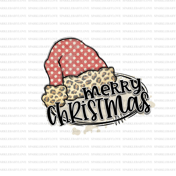 Merry Christmas Santa hat  Holiday Iron On Ready To Press Transfer Christmas design, Merry Christmas Iron on, Christmas sublimation