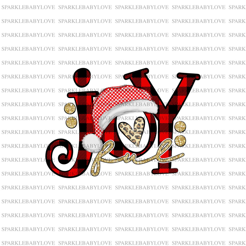 Joyful Christmas Iron on Holiday Iron On Ready To Press Transfer Christmas design, Merry Christmas Iron on