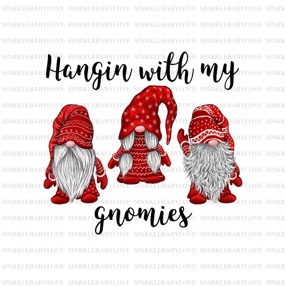 Hangin with my gnomies iron on,christmas Sublimation,Merry Christmas Tree Holiday Iron On Ready To Press, Merry Christmas Iron on