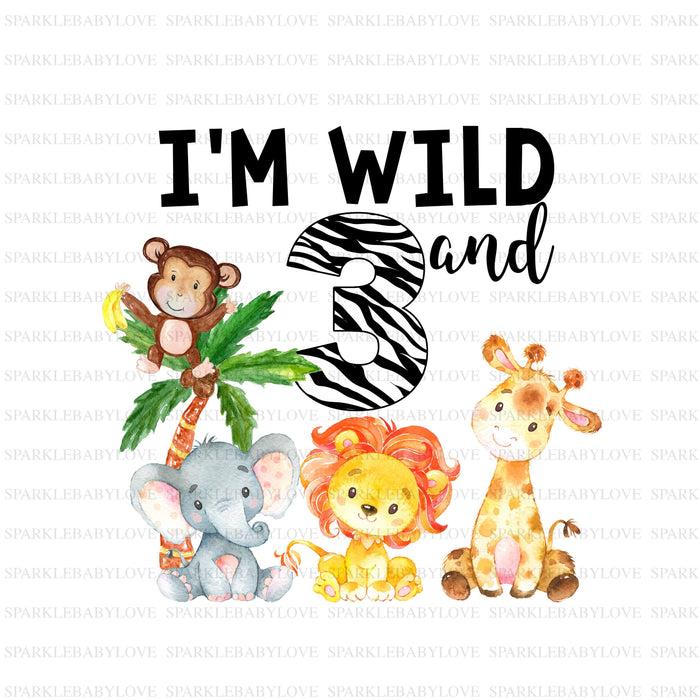 I'm Wild and three iron on, DIY iron on,Sublimation transfer, Ready to Press, Iron on Ready, htv printed, Wild one boho iron on