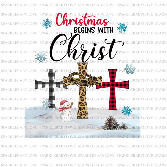 Christmas Begins with Christ Iron on Holiday Iron On Ready To Press Transfer Christmas design, Merry Christmas Iron on, Christmas Tree Truck