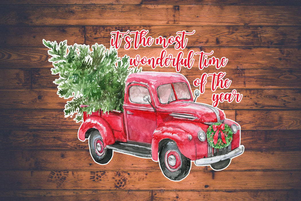 it's the most wonderful time of the year truck Decal, Car Decal, Yeti Decal, Tumbler Decal, Christmas truck Decal, Christmas truck