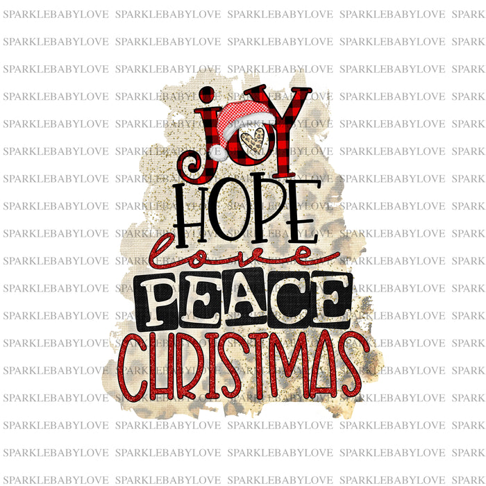 Joy hope love peace Christmas Iron on Holiday Iron On Ready To Press Transfer Christmas design, Merry Christmas Iron on
