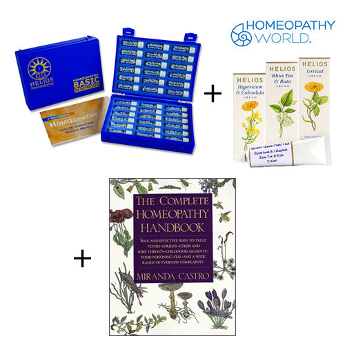 Homeopathic Deluxe Remedy Kit, 3 Creams and Handbook Pack