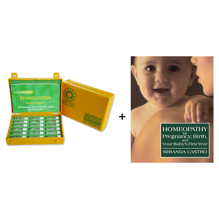 Mother and Baby Homeopathic Kit and Book Pack
