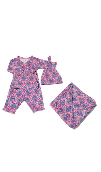 Baby's Ruffle Take-Me-Home 3 Piece  - India Floral