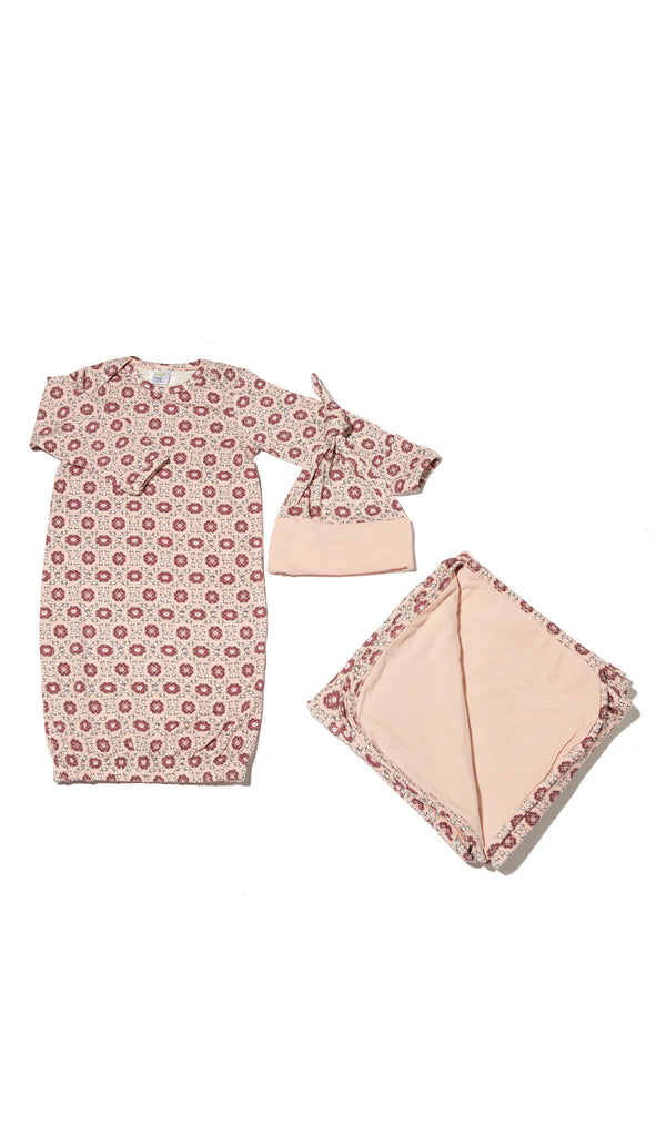 Baby's Welcome Home 3 Piece Set - Pink Blush