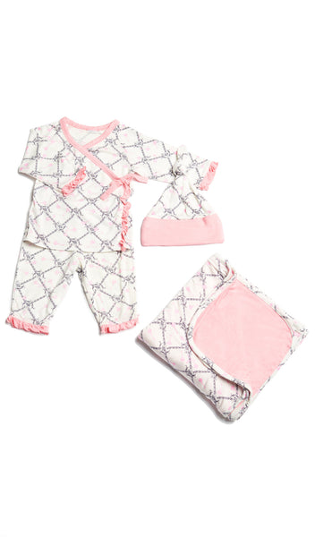 Baby's Ruffle Take-Me-Home 3 Piece  - Duchess