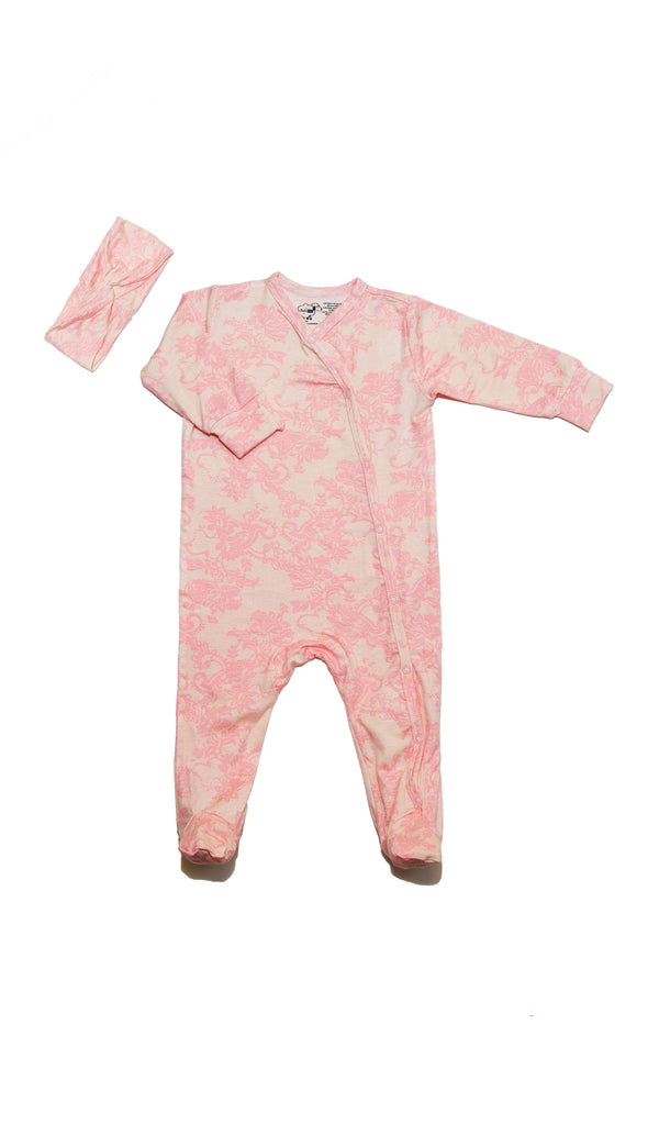 Footie 2 Piece - Pink Chantilly