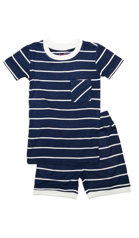 Aydenne Kids 2 Piece Short PJ  - Navy