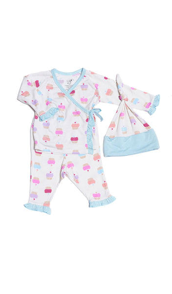 Baby's Ruffle Take-Me-Home 3 Piece  - Cupcakes