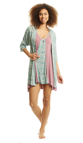 Dawn Chemise/Robe Paisley - Final Sale