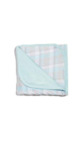 Swaddle Blanket  - Blue Plaid