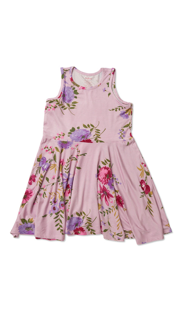 Lucia Kids Twirly Dress - Dusty Rose