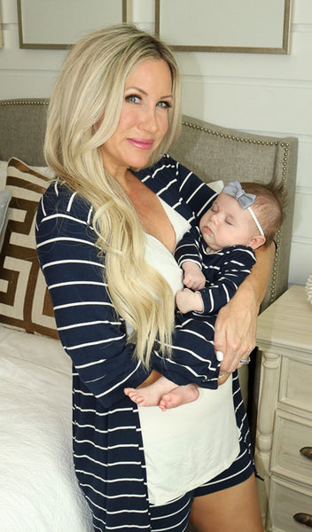 Adaline 3-Piece Navy Stripe