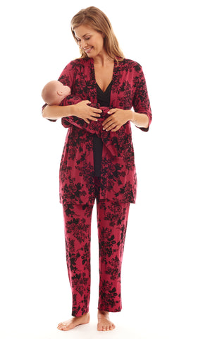 Roxanne 5-Piece Berry Floral