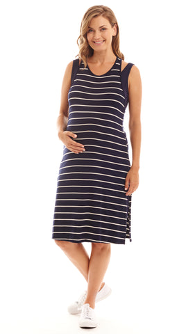 Alex 2-Piece Navy Stripe Dress