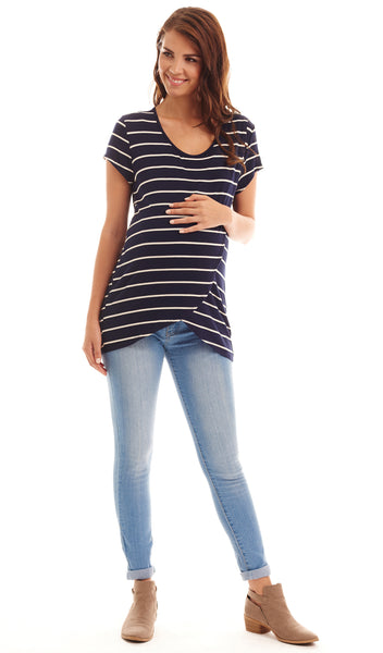 Jonelle Navy Stripe