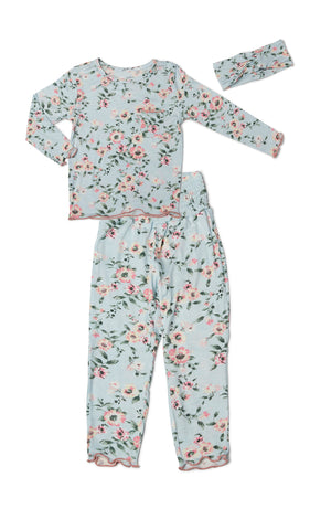 Charlie Kids 3 Piece Pant PJ - Cloud Blue