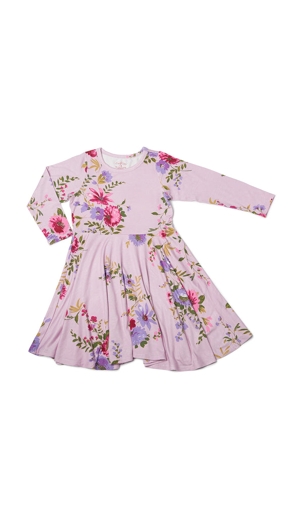 Kendyl Kids Twirly Dress - Dusty Rose