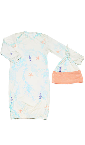 Gown 2-Piece - Sea Horse