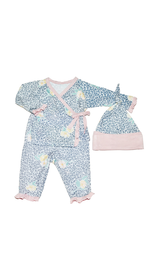 Baby's Ruffle Take-Me-Home 3 Piece  - Jungle Floral