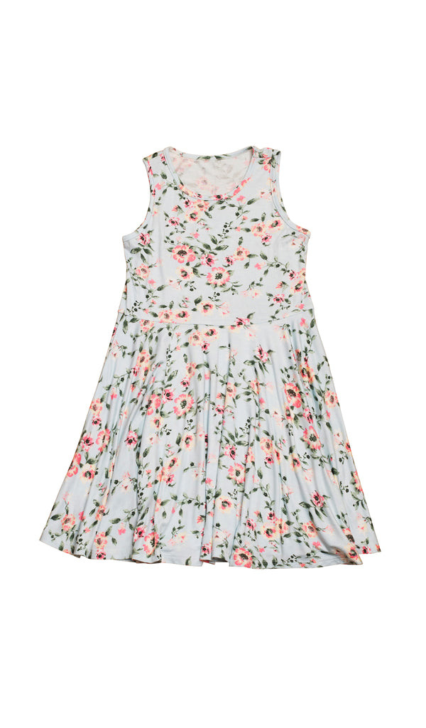 Lucia Kids Twirly Dress - Cloud Blue