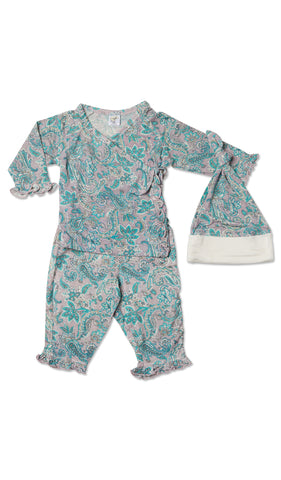 Baby's Ruffle Take-Me-Home 3 Piece  - Paisley