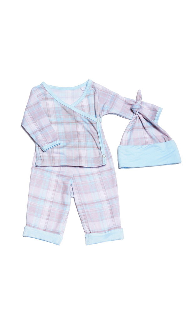 Baby's Take-Me-Home 3 Piece  - Blue Plaid