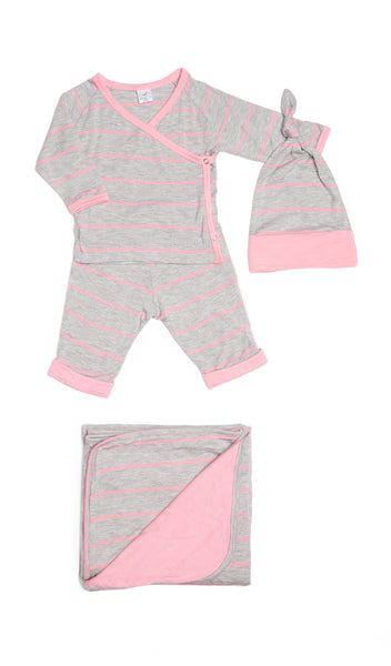 Baby's Take-Me-Home 3 Piece  - Rosebud