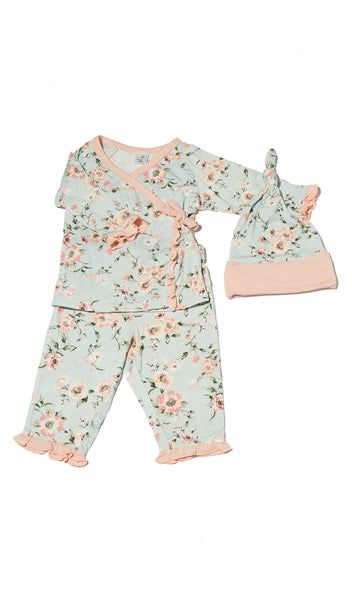 Baby's Ruffle Take-Me-Home 3 Piece  - Cloud Blue
