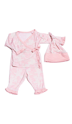 Baby's Ruffle Take-Me-Home 3 Piece  - Pink Chantilly