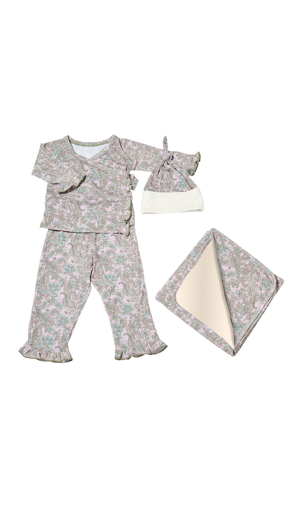 Baby's Ruffle Take-Me-Home 4 Piece  - Paisley