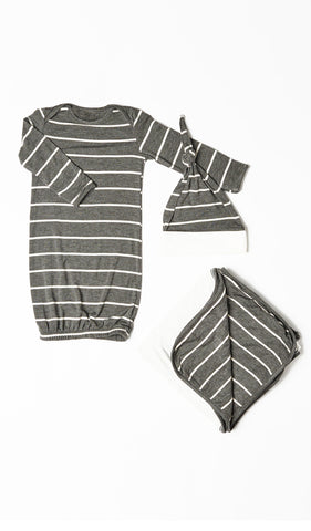 Baby's Welcome Home 3 Piece Set - Charcoal
