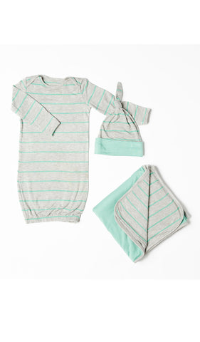 Baby's Welcome Home 3 Piece Set - Sea Foam